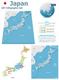 Japan maps with markers