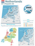 Netherlands maps with markers