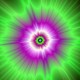 Explosion in Purple and Green
