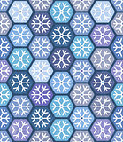 Seamless geometric pattern with snowflakes for Christmas design