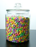Large Glass Jar of Candy Hearts