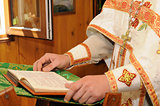Orthodox clergyman reads