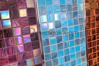 Three samples of mosaic