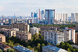 business and residential areas in Moscow