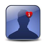 Simple user avatar icon, vector Eps10 illustration.