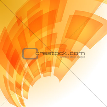 Abstract orange digital background