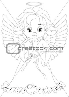 angel 8 Coloring page
