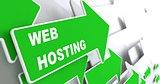 Web Hosting. Technology Concept.