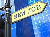 New Job Roadsign. Business Concept.