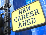Business Concept. New Career Ahead Roadsign.
