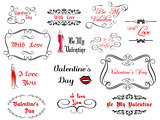 Set of love and Valentine's calligraphic headlines