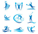Sport symbols and pictograms