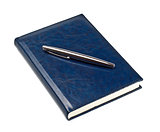 pen on closed diary
