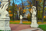 Autumn landscape Catherine park in Pushkin,