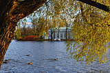 "Autumn landscape with ""Grot"" pavillion in Catherine garden, Push"