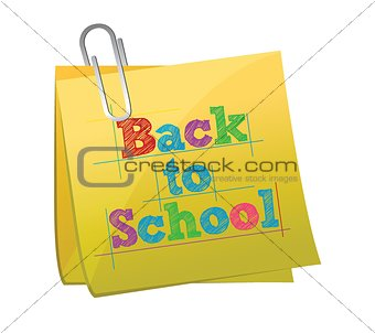 back to school post illustration design