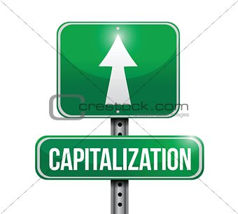 capitalizations road sign illustrations design