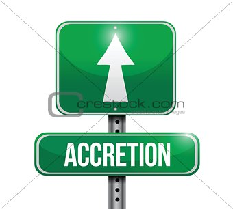 accretion road sign illustrations design