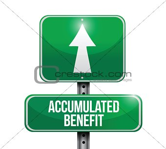 accumulated benefit road sign illustrations design