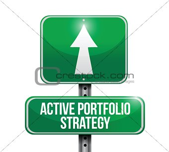 active portafolio strategy road sign illustrations