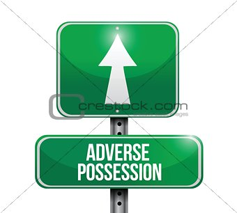 adverse possession road sign illustrations design