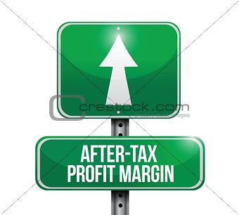 after-tax profits margin road sign illustrations