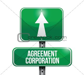 agreement corporation road sign illustrations
