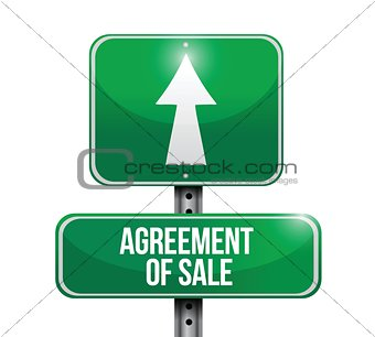 agreement of sale road sign illustrations design