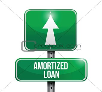 amortized rate road sign illustrations design