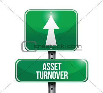 asset turnover road sign illustrations design