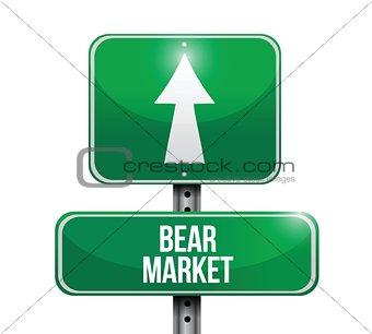 bear market road sign illustrations design