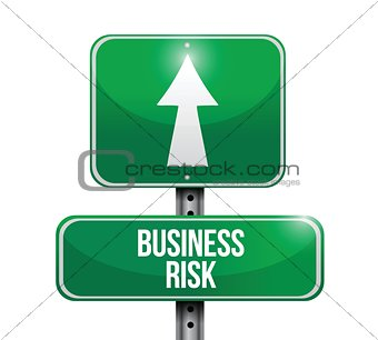 business risk road sign illustrations