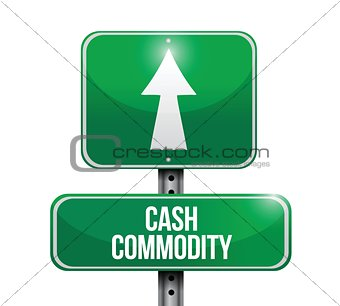 cash commodity road sign illustrations