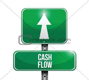 cash flow road sign illustrations