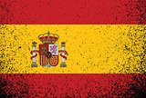 spanish grunge ink flag illustration design