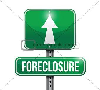 foreclosure road sign illustration design