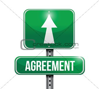 agreement road sign illustrations design