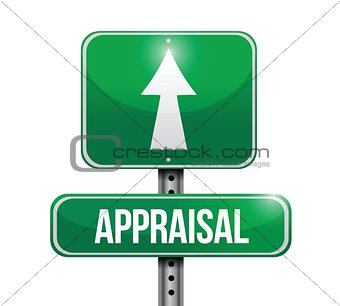 appraisal road sign illustrations design