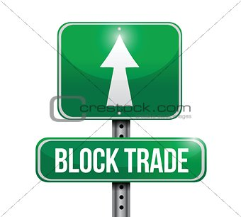 block trade road sign illustrations design