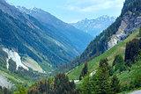 Alpine view from Kaunertaler Gletscherstrasse (Austria)