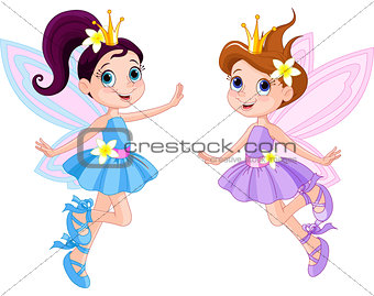 Two cute fairies
