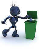 Android recycling trash