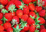 Many strawberries as a texture