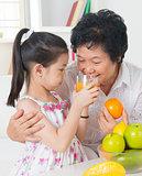 Sharing orange juice