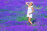 Pretty girl on lavender glade