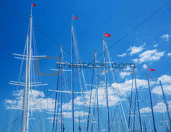 Turkish yacht harbor