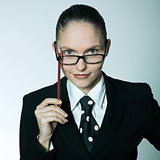 Cute  businesswoman portrait