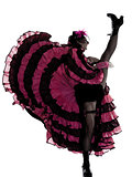 woman dancer dancing french cancan