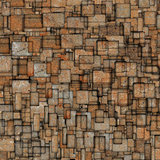 grunge mosaic tile fragmented backdrop in orange