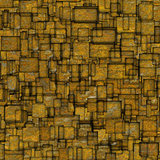 grunge mosaic tile fragmented backdrop in yellow